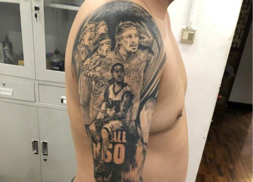 <strong>足球明星写实花臂纹身图案</strong>
