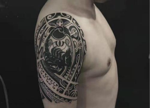 图腾纹身图案-纹身修改遮盖作品