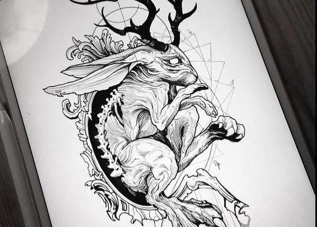 <b>欧美纹身推荐_欧美黑灰纹身手稿</b>