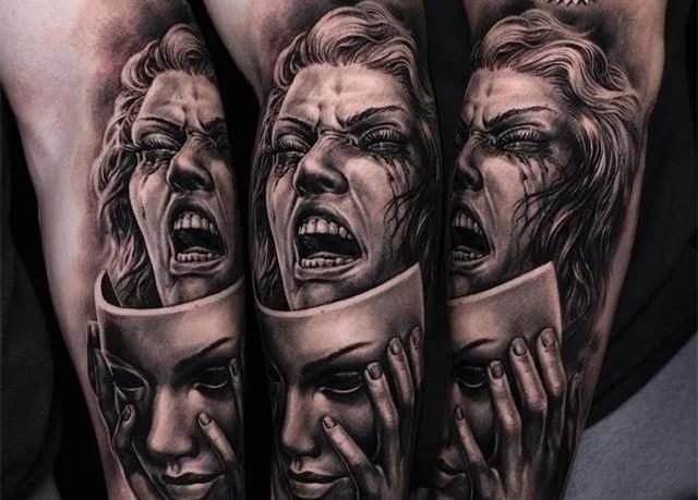 <strong>欧美黑白写实纹身|热爱到什么程度才敢错</strong>