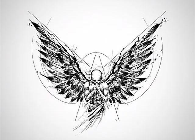 <strong>个性的黑色纹身|总有一次鹰飞会让我们泪</strong>
